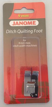Janome Ditch Quilting Foot - Category D - 202087003 in clear packaging