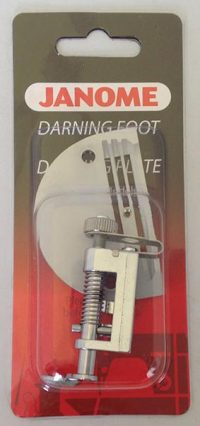 Janome Embroidery/Darning Foot with Needle Plate (heavy duty) - 767827009