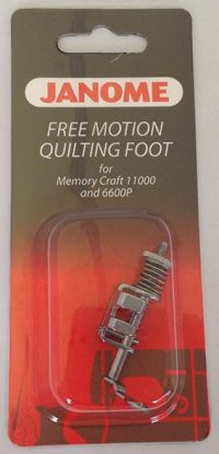 Janome Free Motion Quilting Foot - Exclusive for MC11000/MC11000SE MC7700QCP/MC6600P - 200442004
