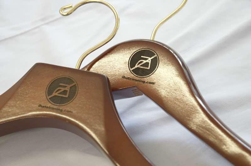 Branded shirt hangers