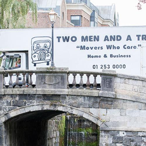 Dublin Truck on Bridge