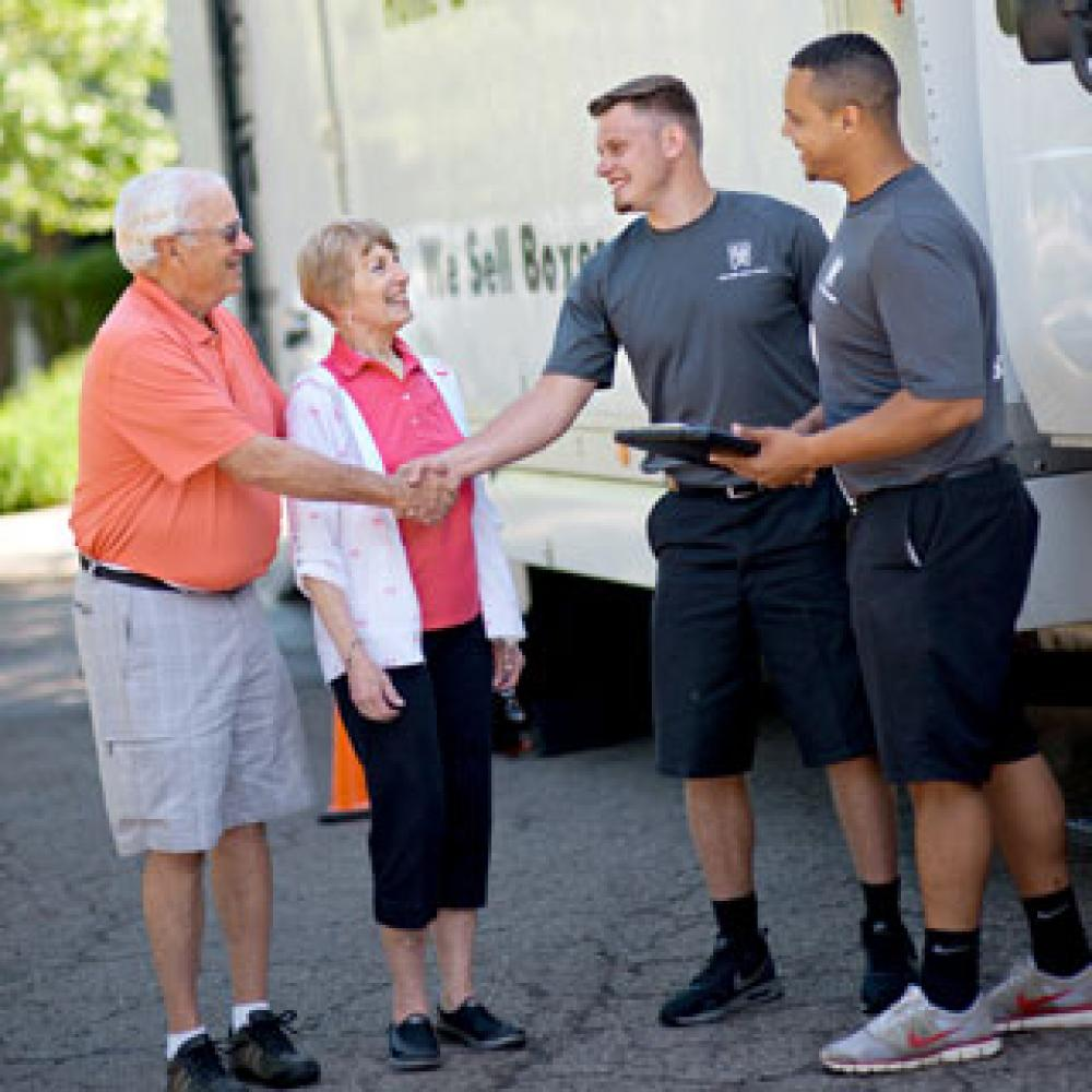two men and a truck movers with seniors