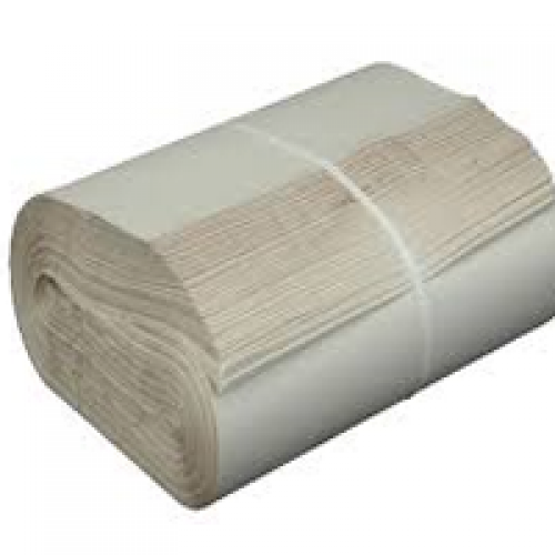 Bundle of many sheets of packing paper