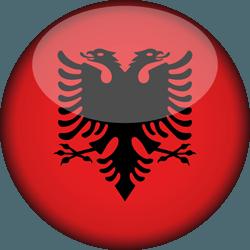 علم ألبانيا دائري / ثري-دي 3D