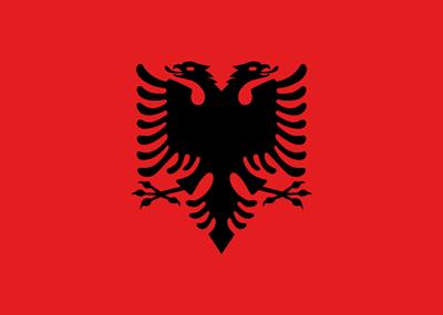 علم ألبانيا بالأبعاد الاصلية