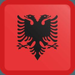 علم ألبانيا مربع بحدود