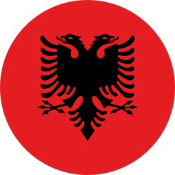 علم ألبانيا على شكل مستدير - كرو