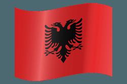 علم ألبانيا على شكل مموج