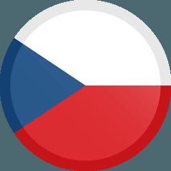 علم التشيك مربع دائري بحدود