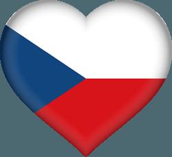 علم التشيك على شكل قلب