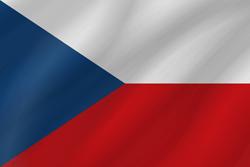 علم التشيك على شكل موجه