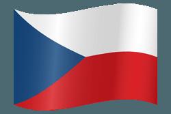 علم التشيك على شكل مموج