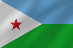 علم جيبوتي على شكل موجه