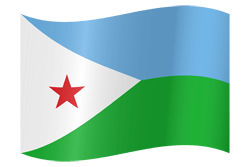 علم جيبوتي على شكل مموج