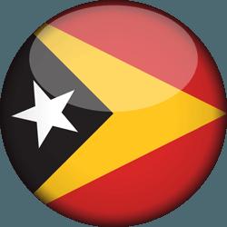 علم تيمور الشرقية دائري / ثري-دي 3D