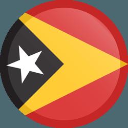 علم تيمور الشرقية مربع دائري بحدود
