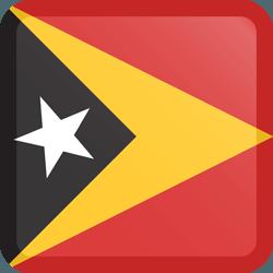 علم تيمور الشرقية مربع بحدود