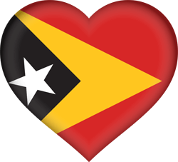 علم تيمور الشرقية على شكل قلب