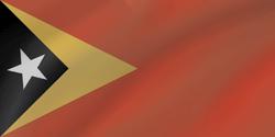 علم تيمور الشرقية على شكل موجه
