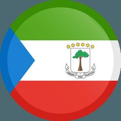 علم غينيا الاستوائية مربع دائري بحدود