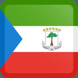 علم غينيا الاستوائية مربع بحدود