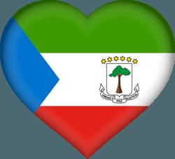 علم غينيا الاستوائية على شكل قلب