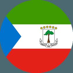 علم غينيا الاستوائية على شكل مستدير - كرو