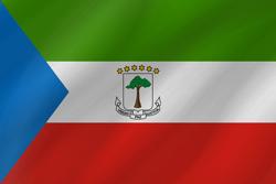 علم غينيا الاستوائية على شكل موجه