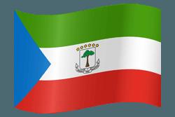 علم غينيا الاستوائية على شكل مموج