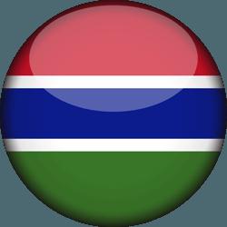 علم غامبيا دائري / ثري-دي 3D