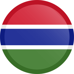 علم غامبيا مربع دائري بحدود