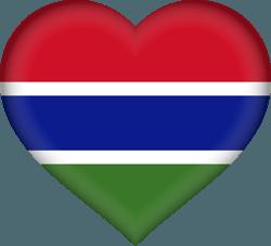 علم غامبيا على شكل قلب