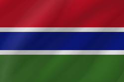 علم غامبيا على شكل موجه