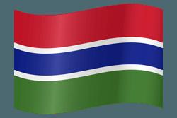 علم غامبيا على شكل مموج