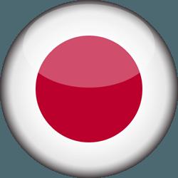 علم اليابان دائري / ثري-دي 3D