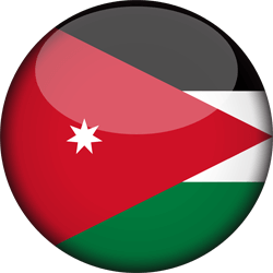علم الأردن دائري / ثري-دي 3D