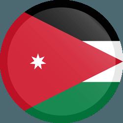 علم الأردن مربع دائري بحدود