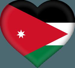 علم الأردن على شكل قلب