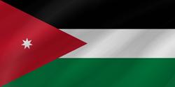 علم الأردن على شكل موجه