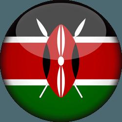 علم كينيا دائري / ثري-دي 3D
