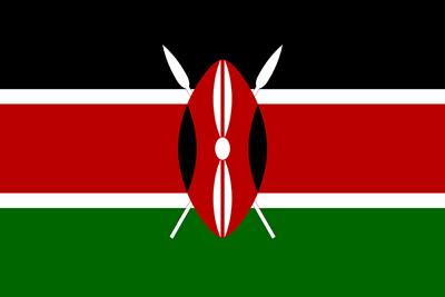 علم كينيا بالأبعاد الاصلية