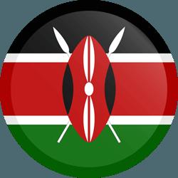 علم كينيا مربع دائري بحدود
