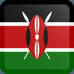 علم كينيا مربع بحدود
