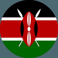 علم كينيا على شكل مستدير - كرو