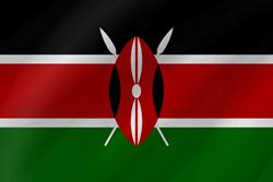 علم كينيا على شكل موجه