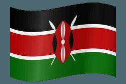 علم كينيا على شكل مموج