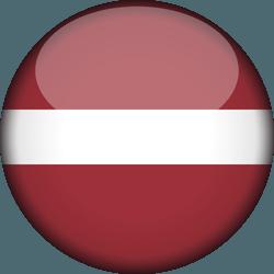 علم لاتفيا دائري / ثري-دي 3D