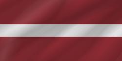 علم لاتفيا على شكل موجه