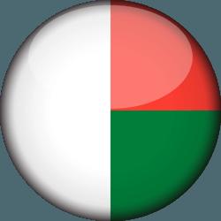 علم مدغشقر دائري / ثري-دي 3D