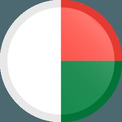 علم مدغشقر مربع دائري بحدود